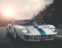 Ford GT40 Rolling Shot Retouch