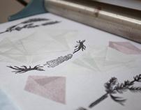 Magical Plant | linocut prints