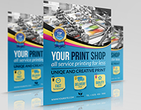 Print Shop Flyer Template