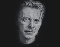 Tribute to Dowid Bowie - pencil portrait drawing No. II