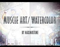 Muscle Art/Watercolor
