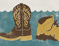 Nashville Flood: Trade Your Boots Poster