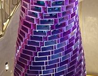 Jimmy Choo New Bond street sculpture lighting