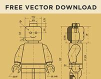 Lego patent vector