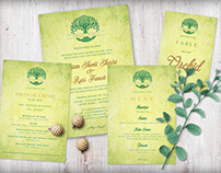 Enchanted Forest Wedding Invitation Set