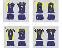 Diseño de uniformes para voleibol