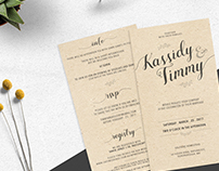 Wedding Invites Kass&Timmy