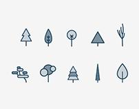 Tree Icon Set + Animation Sample