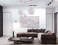 Apartment in a new building. Living room. (2018)