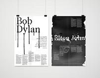 Bob Dylan & Elton John: Informative Poster