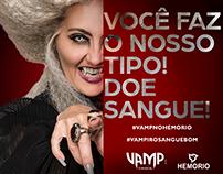 Campanha Hemorio + Vamp