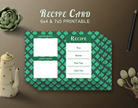 Free Recipe Card Printable Template V19