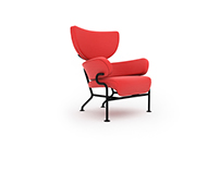 Free 3D Model: 836 Tre Pezzi armchair by Cassina