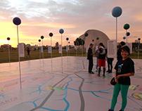 Planeta no Parque - (subterranean giant map)