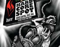 POSTER - Burn HardCoreSpot @ B'estFest 2012