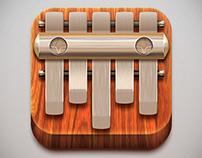 Kalimba. Music application for mobile