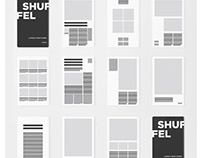 SHUFFEL graphic design layout cards