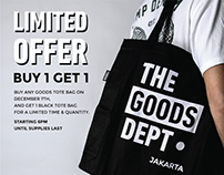 The Goods Dept• | Web Banners & Posters