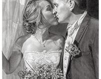 'Mary & JJ' - Wedding Sketch