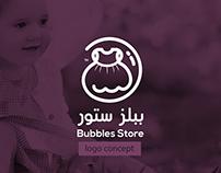 Bubbles Story logo Concept