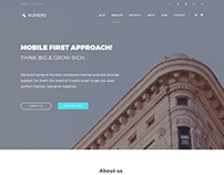 Numero - Free Corporate HTML5 Website Template