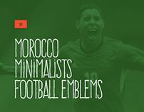 Morocco Minimalists Football Emblems