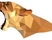 Low Poly Puma. Vector Polygonal Illustration.