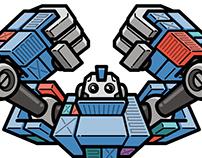 Cloudcontainers Robot | icon design & illustration
