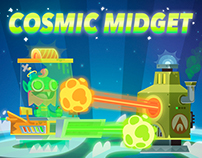 Cosmic Midget game art (creatures and blockers).