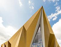 Royal Dutch Mint - A factory with a golden wrap