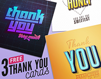 3 FREE Thank You Cards