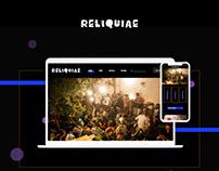 RELIQUIAE - Ruin Pub Website