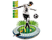 XXL-FUSSBALL-STICKER Soccer sticker