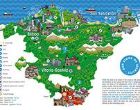 Mapa Go Basquing