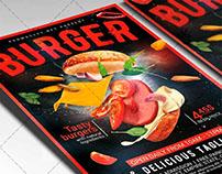 Super Burger - Food Flyer PSD Template
