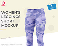Women's Leggings Short Mockup