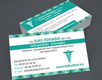 Orthopédiste  Chirurgien Business Cards