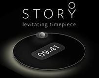 STORY Levitating Timepiece App Design