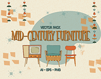 MID-CENTURY FURNITURE VECTOR PACK