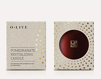 O.LIVE Pomegranate Scent Candle