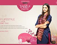 Website of PIKU LIFESTYLE (Deepika Padukone)