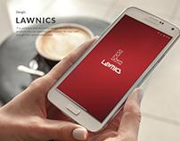Lawnics App UI/UX Design