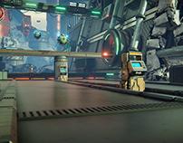 Unity 3d Neon Challenge - Droid Zone