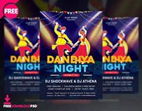 Dandiya Night Flyer Free PSD