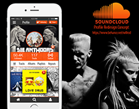 Soundcloud Profile Redesign Concept feat. Die Antwoord