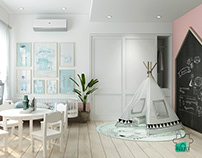 PASTEL ROOM CONCEPT - KID- WORK PLACE- MASTER BEDROOM-