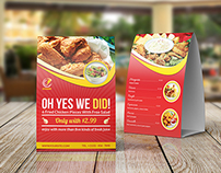 Restaurant and Cafe Table Tent Template Vol10