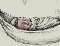 Anahí duerme