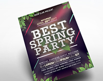 Best Spring Party Flyer