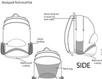 Backpack Technical Flats